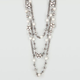 FULL TILT 3 Row Fireball Pearl Necklace