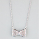 FULL TILT Abalone Rhinestone Bow Necklace