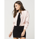 ASHLEY Crop Nylon Womens Bomber Jacket