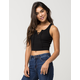 BOZZOLO Lace Up Crop Womens Tank