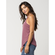 BOZZOLO Mauve High Neck Womens Tank