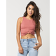 BOZZOLO Knot Crop Womens Tank