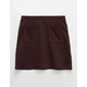 FULL TILT Textured Girls Patch Pocket Skirt