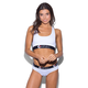 ETHIKA The White Solid Sports Bra