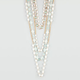 FULL TILT Pearl/Mint Facet Link Necklace