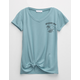 FULL TILT Spaced Out Girls Knot Front Tee