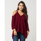 BLU PEPPER Cold Shoulder Womens Sweater