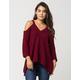 BLU PEPPER Cold Shoulder Womens Sweater