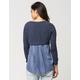 BLU PEPPER Sweater Knit Womens Tee