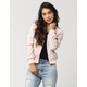 FULL TILT Matte Satin Womens Bomber Jacket