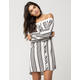 LOVE FIRE Off The Shoulder Shirt Dress
