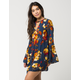 BLU PEPPER Floral Keyhole Dress