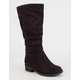 SODA Faux Suede Girls Tall Boots