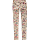 VANILLA STAR Vintage Floral Womens Skinny Pants