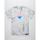PINK DOLPHIN Waves Tie Dye Mens T-Shirt