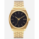 NIXON Time Teller Black & Gold Watch