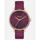 NIXON Kensington Leather Bordeaux Watch