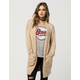WOVEN HEART Furry Womens Long Cardigan