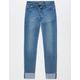 SCISSOR Wide Roll Cuffed Girls Jeans