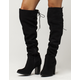 QUPID Over The Knee Womens Heeled Boots