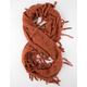 Knit Fringe Infinity Scarf