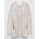 WOVEN HEART Marled Girls Fuzzy Cardigan
