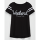 FULL TILT Weekend Girls Varsity Tee