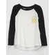 POOLHOUSE A Okay Smiley Girls Raglan Tee
