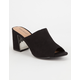 BAMBOO Peep Toe Womens Slide Heels