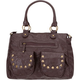 Stud Pocket Faux Leather Satchel