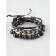 BLUE CROWN 3 Pack Beaded Braid Bracelets
