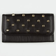 Faux Leather Dome Stud Wallet