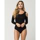 EYESHADOW Cold Shoulder Womens Bodysuit