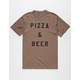 THE POSTER LIST Pizza & Beer Mens T-Shirt