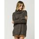 RAZZLE DAZZLE Womens Side Slit Cowl Pullover