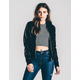 RSQ Faux Leather Womens Bomber Jacket