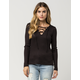 OTHERS FOLLOW Lace Up Womens Sweater
