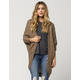 WOVEN HEART Heavy Stitch Womens Cocoon Cardigan