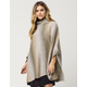 WOVEN HEART Ombre Turtleneck Womens Poncho