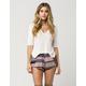 FULL TILT Linear Patchwork Womens Shorts