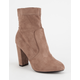 YOKI Faux Suede Womens Sock Boots