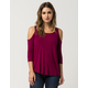 FULL TILT Cold Shoulder Womens Top