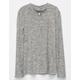 FULL TILT Mock Neck Keyhole Girls Sweater