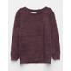 WOVEN HEART Fuzzy Girls Sweater