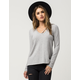 FULL TILT Strappy V-Neck Womens Sweater