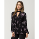 FULL TILT Mock Neck Floral Womens Top