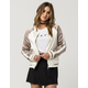 ASHLEY Sateen Colorblock Womens Bomber Jacket