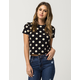 YOUNG & RECKLESS Daisy Dot Womens Crop Tee