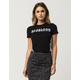 YOUNG & RECKLESS Strike Out Womens Crop Tee
