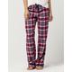 COSMIC LOVE Burgundy Plaid Womens Flannel PJ Pants